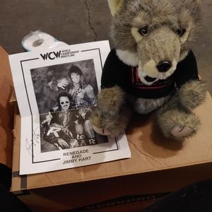 Stuffed animal and autographed picture